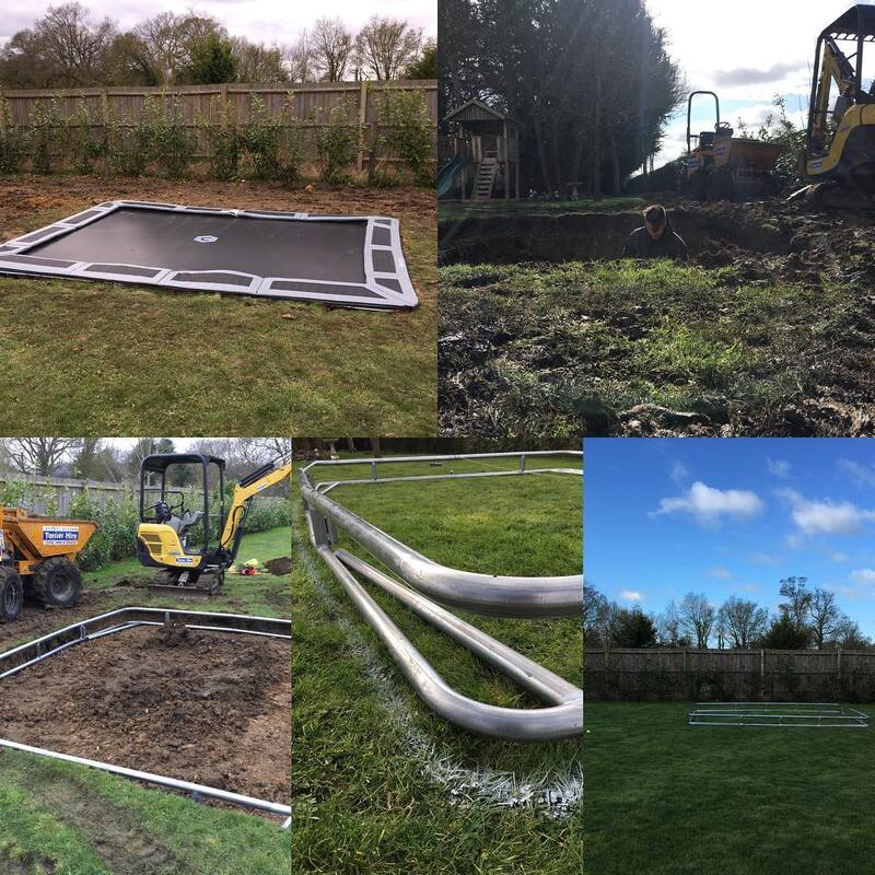 Sunken Trampoline Installed in braintree by Millers Garden Services